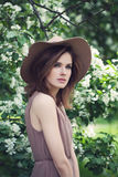 Magnificent Model Woman Outdoors. royalty free stock image
