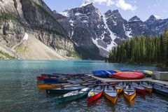 Magnificent Moraine Lake royalty free stock image