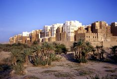 Shibam also called Manhattan of Yemen Stock Image