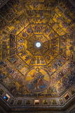 Magnificent mosaic ceiling of the Baptistry of San Giovanni Royalty Free Stock Images