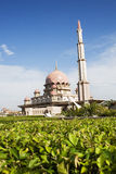 Magnificent Mosque. A magnificent mosque at Putrajaya, Malaysia royalty free stock image