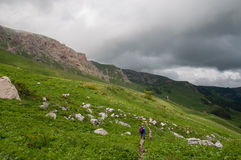 The magnificent mountain scenery of the Caucasus Nature Reserve Stock Photo