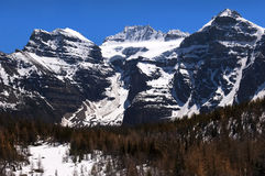 Magnificent mountains of Canada. At the foot of the majestic mountains of Canada Royalty Free Stock Photo