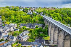 The magnificent old city of Dinan. Concept of Europe travel, sig Royalty Free Stock Photography
