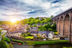 The magnificent old city of Dinan. Concept of Europe travel, sightseeing and tourism. Brittany (Bretagne), France. The magnificent old city of Dinan. Concept of royalty free stock photography