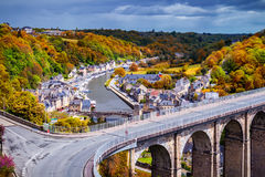 The magnificent old city of Dinan. Concept of Europe travel, sig Stock Images