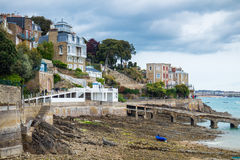 The magnificent old city of Dinard. Concept of Europe travel, si. Ghtseeing and tourism. Brittany (Bretagne), France Stock Image