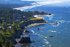 Magnificent Oregon coast panorama Stock Images