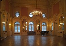 Lodz Poland Israel Poznanski palace ball room stock images