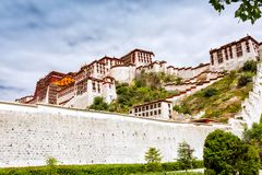 Magnificent palace. The Potala Palace is an outstanding representative of Tibetan architecture and the essence of ancient Chinese architecture. The architectural Stock Images