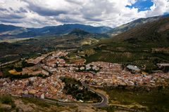 Magnificent panorama of Jaen town in Andalusia Royalty Free Stock Photo