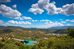 Magnificent panorama of small town in Andalusia Royalty Free Stock Image