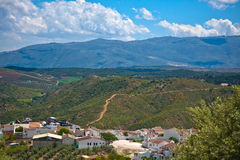 Magnificent panorama of small town in Andalusia Stock Photography
