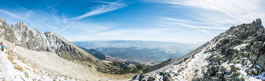 A magnificent panorama view from the mountains Stock Images