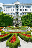 Magnificent park with fountains (Villa Carlotta, Italy, Lake Com Stock Photos