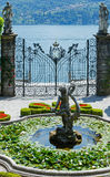 Magnificent park with fountains (Villa Carlotta, Italy, Lake Com Royalty Free Stock Photo