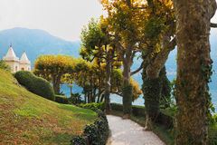 Magnificent park at the Italian villa Stock Photography