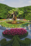 Magnificent park with statues Royalty Free Stock Photos