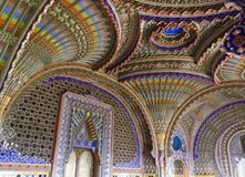 The magnificent Peacock Room inside the Sammezzano abandoned Castle Royalty Free Stock Photography