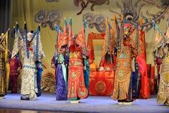 The magnificent Peking Opera Costumes. Nanchang - May 17th: Jiangxi Peking Opera Troupe of Chu Han contention China in Nanchang Nanchang theatre in May 17, 2014 royalty free stock photos