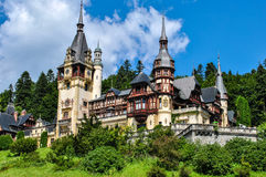 Magnificent Peles Palace, Sinaia in Romania Royalty Free Stock Photo