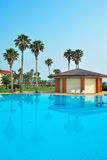 Magnificent pool of a resort hotel royalty free stock photography