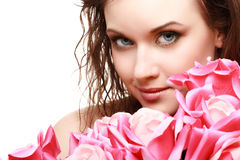 Magnificent portrait of a beautiful young woman Royalty Free Stock Photography