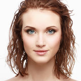 Magnificent portrait of a beautiful young woman Stock Photos