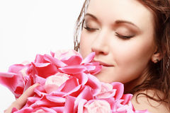 Magnificent Portrait Of A Beautiful Young Woman Royalty Free Stock Images