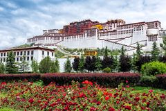 The magnificent potala palace. The Potala Palace is 3,700 meters above sea leveltourism to prevent the lack of internal oxygen, covers an area of 360,000 square Royalty Free Stock Photo