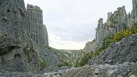 Magnificent Putangirua Pinnacles close to Palliser bay, North Island, New Zealand royalty free stock images
