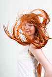 Magnificent red hair Stock Images