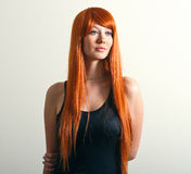 Magnificent red hair Stock Photos