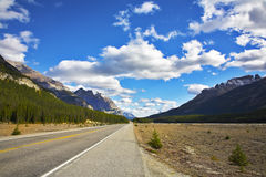 Magnificent  road. Northern landscape Royalty Free Stock Images