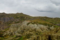 Magnificent rock cliffs in green valley Royalty Free Stock Photography