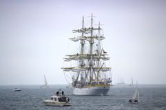 Magnificent sea ships tale Royalty Free Stock Photo