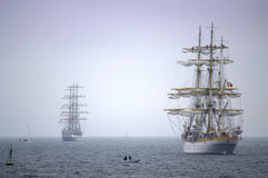 Magnificent sea ships tale Stock Images