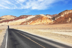 Magnificent  smooth road in Death Valley Desert Royalty Free Stock Photo