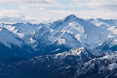 Magnificent snowy mountains royalty free stock images