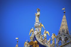 Magnificent St Mark Basilica decoration Venice Italy Stock Images