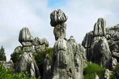 Magnificent stone shape. Spotted in stone forest in China Royalty Free Stock Image