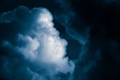 Magnificent storm clouds in the evening sky. High contrast dramatic scenery Royalty Free Stock Photos