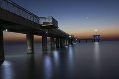 Magnificent sunrise on the Bourgas bridge Stock Image
