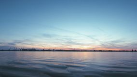 A magnificent sunset along the Volga River in Russia. stock footage
