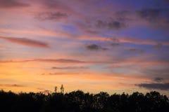 Magnificent sunset Stock Photos