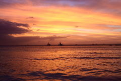 Magnificent sunset Royalty Free Stock Photography