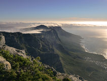 Magnificent sunset over the Table Mountain Stock Photos