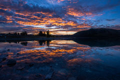The magnificent sunset reflection Royalty Free Stock Image