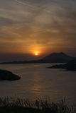 Magnificent Sunset. View from Sounio in Greece. Stock Image