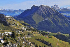 The magnificent Swiss Alps in an autumn Royalty Free Stock Photography